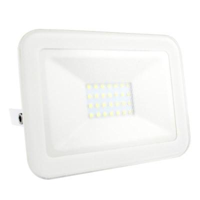 Levné LED halogeny (reflektory): LED nástěnný reflektor, 20W, IP65, 4000K, neutrální bílá, bílý
