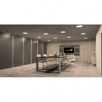Levné Stropní svítidla: Zápustný LED panel, 24W, 2800K, teplá bílá, 30cm, bílý, kulatý