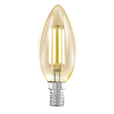 Levné LED diodové žárovky: Retro LED žárovka EGLO, E14, tvar CF35, 4W, teplá bílá
