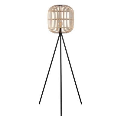 Levné Stojací lampy trojnožka: Podlahové svítidlo trojnožka BORDESLEY, dřevo, 139x35cm
