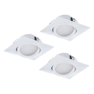 Levné Stropní svítidla: Zápustné bodové LED svítidlo PINEDA, sada 3x, bílé