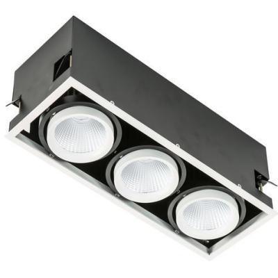 Levné Stropní svítidla: LED vestavné stropní bodové svítidlo VERTICO TRIPLE 4000K