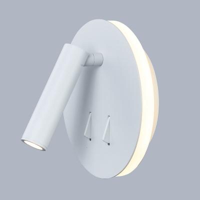 Levné Nástěnná svítidla: Moderní nástěnné LED svítidlo s vypínačem NEMO, bílé