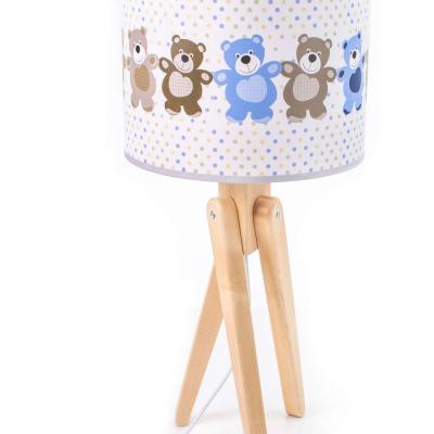 Levné Dětské lampičky: Stolní dětská lampa trojnožka TRIVET, medvídci