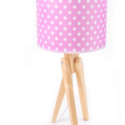 Levné Dětské lampičky: Stolní dětská lampa trojnožka TRIVET, puntíky