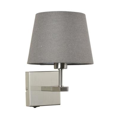 Levné Nástěnná svítidla: Nástěnná lampička s vypínačem NORTE, šedá