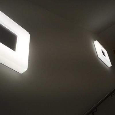 Levné Stropní svítidla: Přisazené moderní stropní / nástěnné LED osvětlení EVIK, 24W, denní bílá, 37x37cm, hranaté
