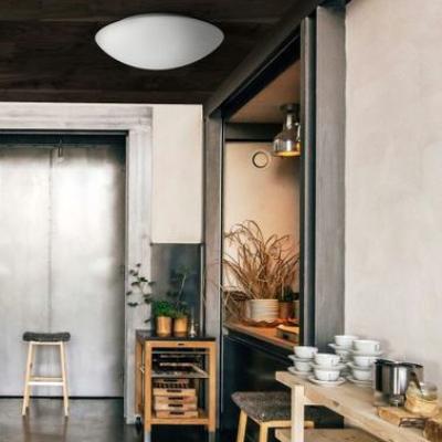 Levné Stropní svítidla: Stropní / nástěnné osvětlení do koupelny TWIST, 1xE27, 60W, 44cm, kulaté, IP44