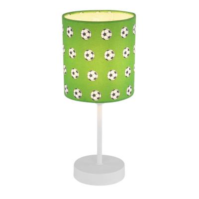 Levné Dětské lampičky: Dětská stolní lampička s fotbalovým míčem LEMMI, zelená