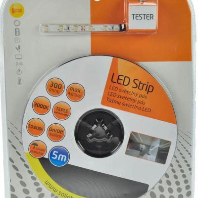 Levné Stropní svítidla: Solight LED světelný pás s testrem, 5m, teplá bílá