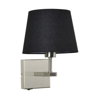 Levné Nástěnná svítidla: Nástěnná lampička s vypínačem NORTE, černá