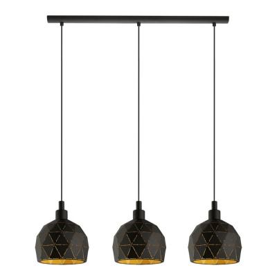 Levné Lustry a závěsná svítidla: Moderní závěsné osvětlení na lanku ROCCAFORTE, černé