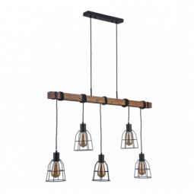 Levné Lustry a závěsná svítidla: Závěsné osvětlení nad jídelní stůl REDA, 5xE27, 40W