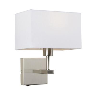 Levné Nástěnná svítidla: Nástěnná lampička s vypínačem NORTE, bílá, hranatá