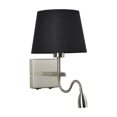 Levné Nástěnná svítidla s vypínačem: Nástěnná lampička s vypínačem a LED zdrojem NORTE, černá