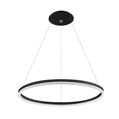 Levné Lustry a závěsná svítidla: LED moderní závěsný lustr DONA, černý