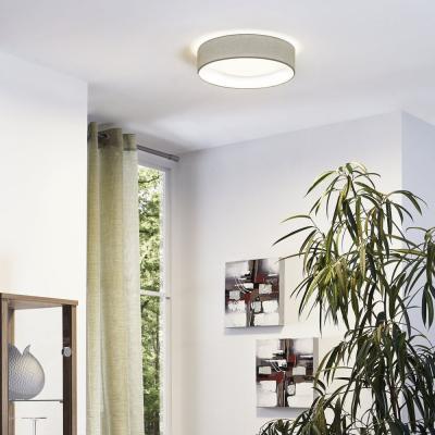 Levné Přisazené LED lustry: LED stropní osvětlení PASTERI, 11W, teplá bílá, 32cm, kulaté, šedohnědé