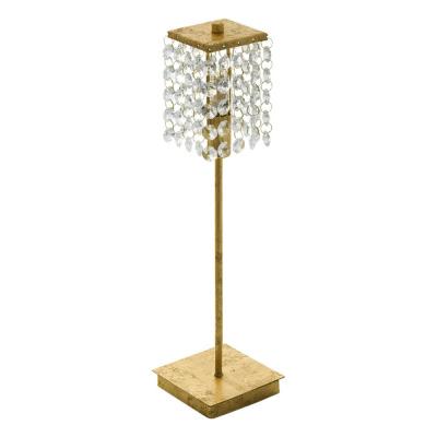 Levné Osvětlení do obývacího pokoje: Moderní křišťálové stolní svítidlo PYTON GOLD