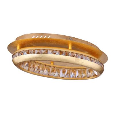 Levné Stropní svítidla: Stropní LED designové přisazené osvětlení HOMMI, 18W, denní bílá, kulaté, zlaté