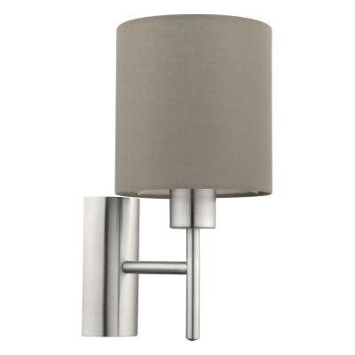Levné Nástěnná svítidla: Lampička na stěnu s vypínačem PASTERI, šedohnědá