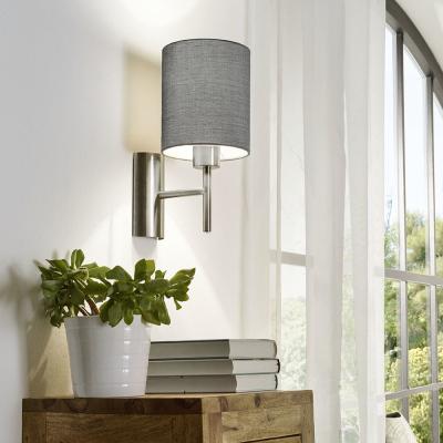 Levné Nástěnná svítidla s vypínačem: Lampička na stěnu s vypínačem PASTERI, šedá