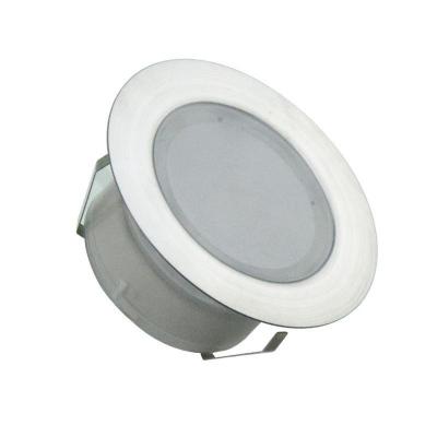 Levné Venkovní LED osvětlení: LED venkovní zápustné svítidlo NEDES 1, 1,5W, kulaté, teplá bílá