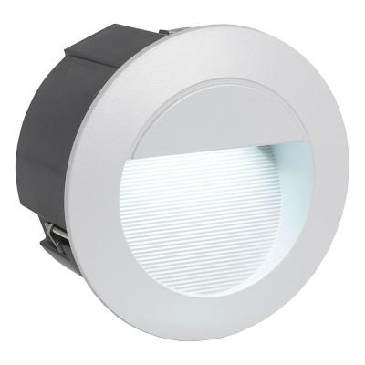 Levné Venkovní LED světla: Venkovní LED zápustné svítidlo ZIMBA-LED, stříbrné, 12,5cm