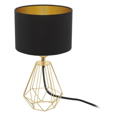 Levné Lampy a lampičky: Stolní lampa CARLTON 2, černá se zlatým