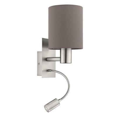 Levné Nástěnná LED svítidla: Nástěnné světlo s LED světýlkem PASTERI, hnědé