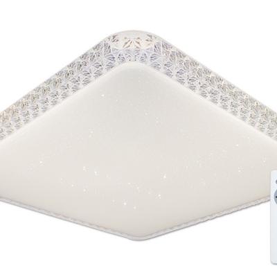 Levné Stropní svítidla: LED stropní přisazené osvětlení AURA 50 RC, 48W, 54x54cm, hranaté