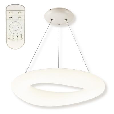Levné Závěsné LED lustry: LED závěsný stmívatelný lustr na lanku CLOUD XL RC