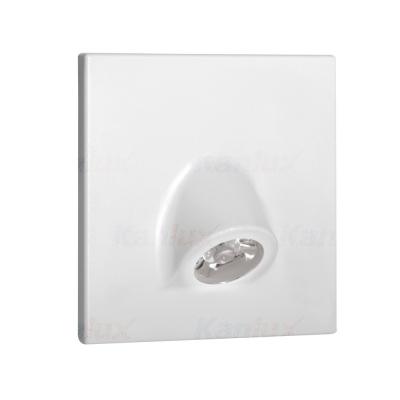 Levné Nástěnná svítidla: Vestavné LED osvětlení schodiště MEFIS, 3000K, 30lm, bílé