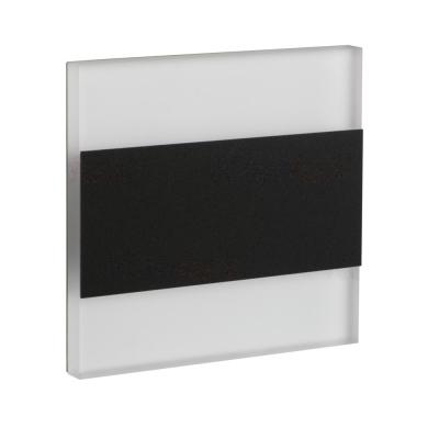 Levné Nástěnná svítidla: Vestavné LED osvětlení schodiště TERRA, 3000K, 13lm, černé