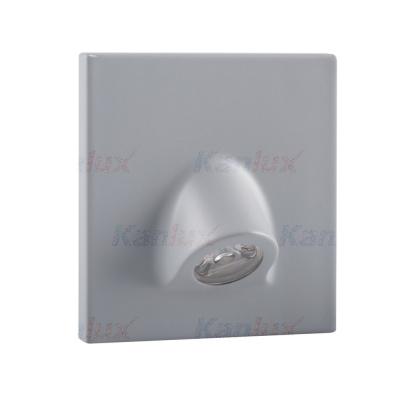 Levné Nástěnná svítidla: Vestavné LED osvětlení schodiště MEFIS, 4000K, 35lm, šedé