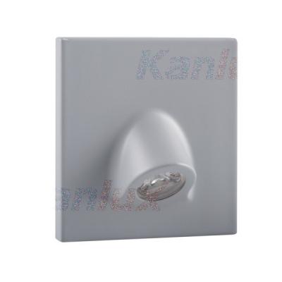 Levné Nástěnná svítidla: Vestavné LED osvětlení schodiště MEFIS, 3000K, 30lm, šedé