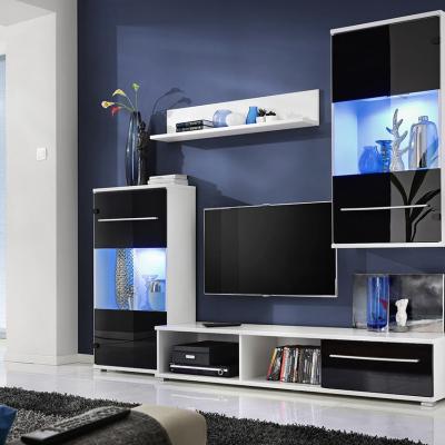 Levné Obývací stěny: Obývací stěna s osvětlením LOLA