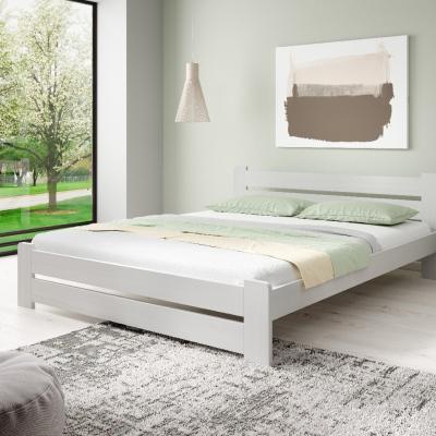 Levné Manželské postele: Manželská postel z masivu borovice Malm - bílá 180 x 200