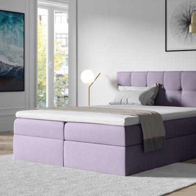 Levné Manželské čalouněné postele: Stylová manželská postel s úložným prostorem Recivio violet 180 + TOPPER