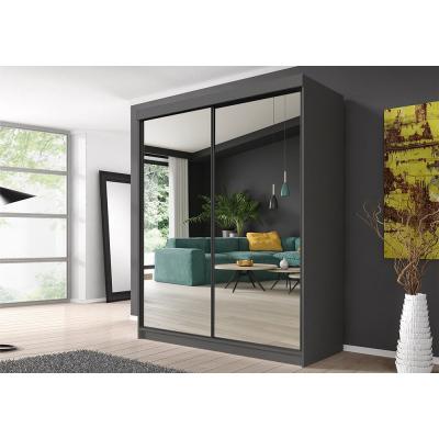 Levné Šatní skříně: Šatní skříň Markéta 20 183 cm se zrcadlem, grafit