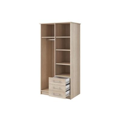 Levné Šatní skříně: Šatní skříň se zrcadlem Skylynn 100 cm, dub sonoma