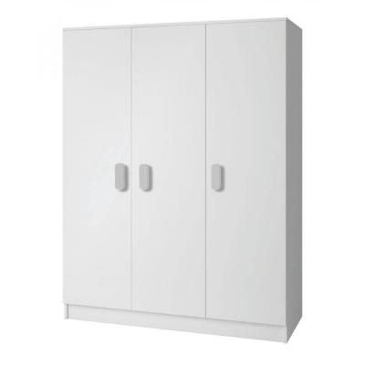Levné Šatní skříně: Třídveřová šatní skříň do dětského pokoje Sven, úchytky - bílá