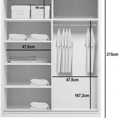 Levné Šatní skříně: Prostorná šatní skříň AMADEO, šířka 100 cm, výška 215 cm