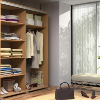 Levné Šatní skříně: Prostorná šatní skříň AMADEO, šířka 100 cm, výška 245 cm