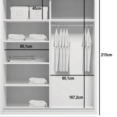 Levné Šatní skříně: Prostorná šatní skříň AMADEO, šířka 125 cm, výška 215 cm