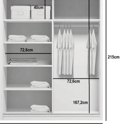 Levné Šatní skříně: Prostorná šatní skříň AMADEO, šířka 150 cm, výška 215 cm