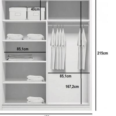 Levné Šatní skříně: Prostorná šatní skříň AMADEO, šířka 175 cm, výška 215 cm