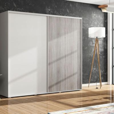 Levné Šatní skříně: Prostorná šatní skříň CALEB, šířka 125 cm, výška 215 cm