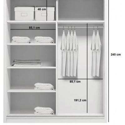 Levné Šatní skříně: Prostorná šatní skříň CALEB, šířka 175 cm, výška 245 cm