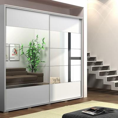 Levné Šatní skříně: Zrcadlová šatní skříň FERNANDO, šířka 175 cm, výška 245 cm
