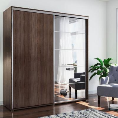 Levné Šatní skříně: Prostorná zrcadlová šatní skříň JACOBO, šířka 150 cm, výška 245 cm
